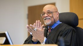 Judge Wesley Saint Clair on the bench